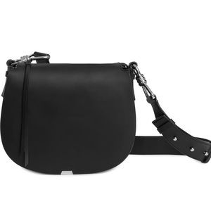 NEW All Saints Captain Round Leather Bag